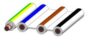 4 aderige vlakbandkabel